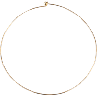 Vratni obroč, Ø15 cm / 47 cm, zlat