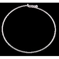 Vratni obroč, 46 cm, Ø2 mm, srebrn