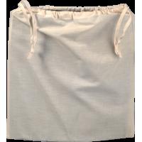 Vrečka iz bombaža z vrvico, 37,5 x 35,5 cm, naravna
