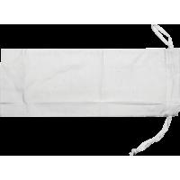 Vrečka za steklenico, bela, 15 x 40 cm, 100 % bombaž