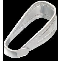 Zanka za obesek, 10 mm, srebrna, 5 kosov