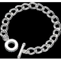 Zapestnica, 18 cm, srebrna