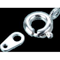 Zaponka Ø7 mm + spojna ploščica, srebrna