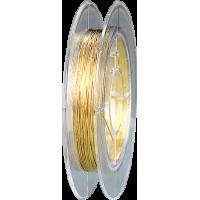 Žica za nakit, Ø0,40 mm, 10 m, zlata