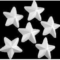 Zvezda iz stiropora, 50 mm, 6 kosov