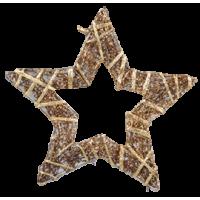 Zvezda iz trte ovita s trakom, 15 cm