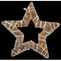 Zvezda iz trte ovita s trakom, 20 cm