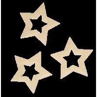 Zvezdica iz filca, 3 cm, krem