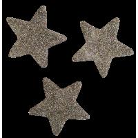 Zvezdica iz filca, 4 cm, kovinsko srebrna