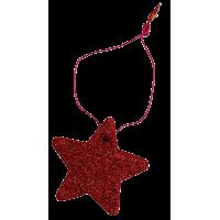 Zvezdica iz filca, 5,5 cm, kovinsko rdeča
