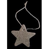 Zvezdica iz filca, 5,5 cm, kovinsko srebrna