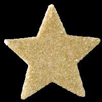 Zvezdica iz filca, 5,5 cm, kovinsko zlata