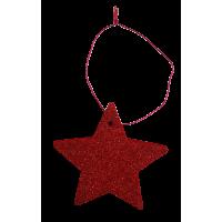 Zvezdica iz filca, 8 cm, kovinsko rdeča