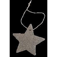 Zvezdica iz filca, 8 cm, kovinsko srebrna