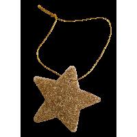 Zvezdica iz filca, 8 cm, kovinsko zlata