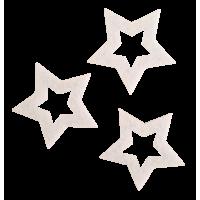 Zvezdica iz filca, bela, 5 cm