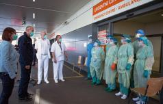 Premier Janša v celjski bolnišnici