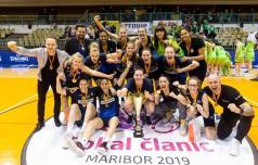 Celjske košarkarice 13. pokalne prvakinje