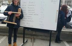 Konjičan, ki našteje 3333 decimalk števila pi