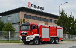 Cinkarna Celje nabavila novo posebno gasilsko vozilo