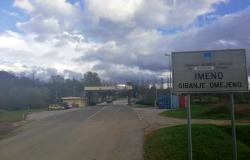 Mejni prehod Imeno zaprt