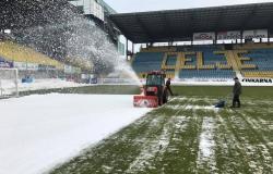 Celjani pripravili igrišče za tekmo proti Gorici