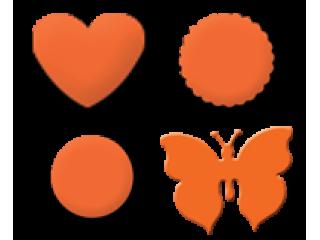 Motiv srce, metulj, krog
