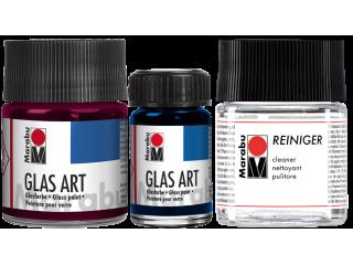 Prosojne barve za steklo na osnovi umetnih smol