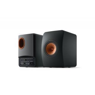 KEF LS50 Wireless II zvočniki Carbon Black - Aktivni zvočniki