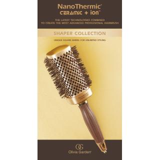 krtača OG NanoThermic, kvadratna - 40mm - Krtače za lase