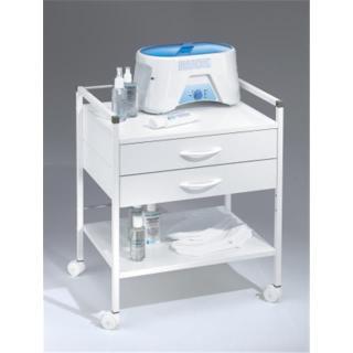 Ruck voziček, bele barve - 2 predala - Oprema za kozmetične salone
