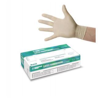 rokavice RUC latex -bele,nepudrane- 7-M - Rokavice & čistila
