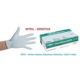 rokavice RUC nitril, SENSITIVE - 6-XS - Rokavice & čistila