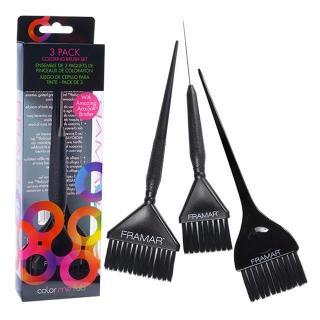 čopič FRR barvanje, set - 3 kosi, črni - Frizerski pripomočki