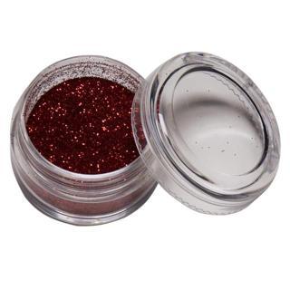 bleščice LAD prah - Red, rdeča - LaDot - Stamp Body Tatoo