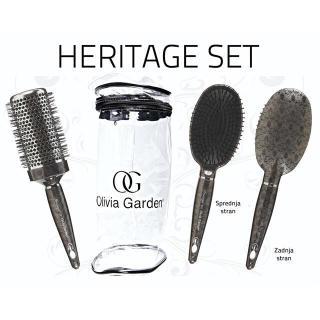 krtača OG Heritage - set 2 krtač + torba - Krtače za lase