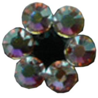 kristalna roža SS kristal AB+črn diamant - Lasni dodatki in nakit