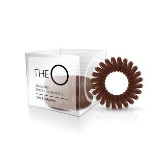 gumice TheO - špiralna, rjava - Frizerski pripomočki
