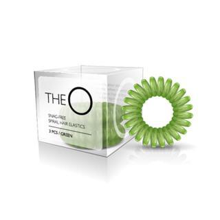 gumice TheO - špiralna, zelena - Frizerski pripomočki