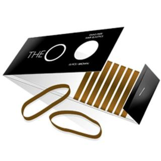 elastike TheO - ravne, rjave - Frizerski pripomočki