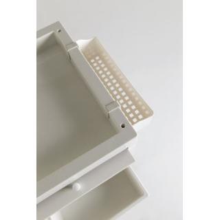 voziček SIB Discrete - kremno bel - Oprema za frizerske salone