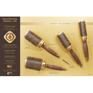 krtača OG NanoThermic, kvadratna - 30mm - Krtače za lase