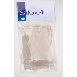 gumice SIB silikon, dolge, ploščate - Frizerski pripomočki