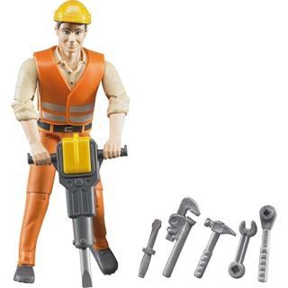 Igrača figura gradbeni delavec - Figure in tematski dodatki