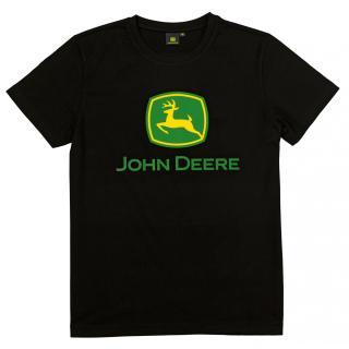 Majica John Deere črna - Promocijska oblačila