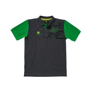 Majica John Deere Grey polo shirt combine - Promocijska oblačila