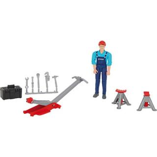 Igrača figura mehanik z orodjem - Figure in tematski dodatki