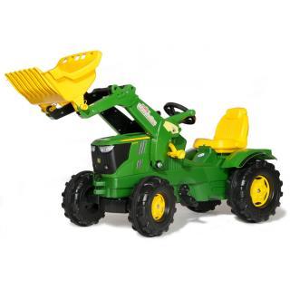 Traktor John Deere 6210R z nakladalcem - Vozila na pedala