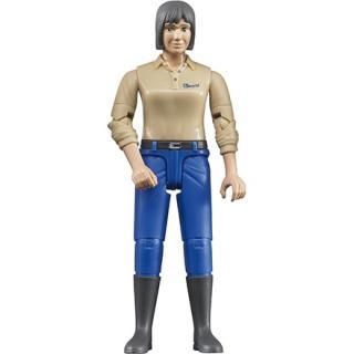 Igrača figura ženska z modrimi hlačami. - Figure in tematski dodatki