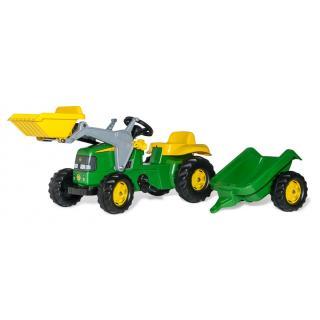 Traktor John Deere RollyKid z nakladalcem in prikolico - Vozila na pedala